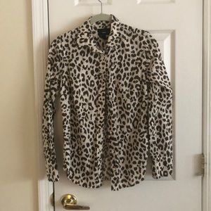 Jcrew perfect shirt in leopard print